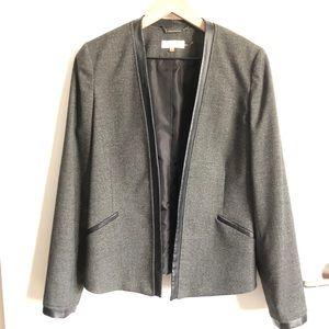 Calvin Klein Open Front Collarless Blazer Size 6